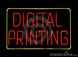 Neon Digital Printing Sign Royalty Free Stock