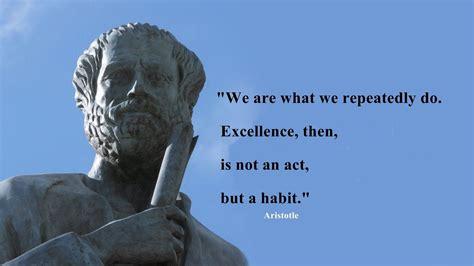 aristotle habit quotes wallpaper  baltana