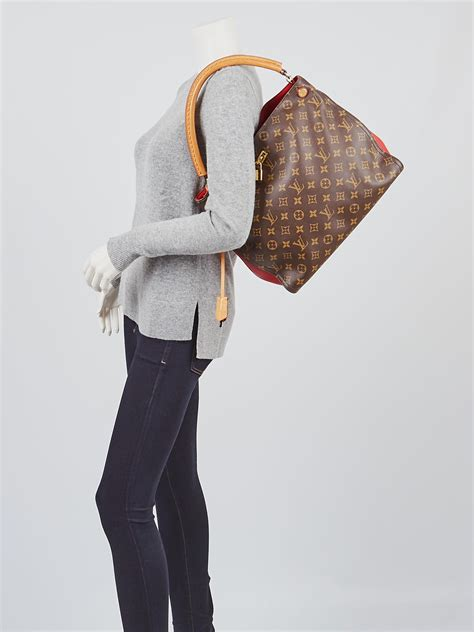 louis vuitton monogram canvas cerise gaia bag yoogis closet