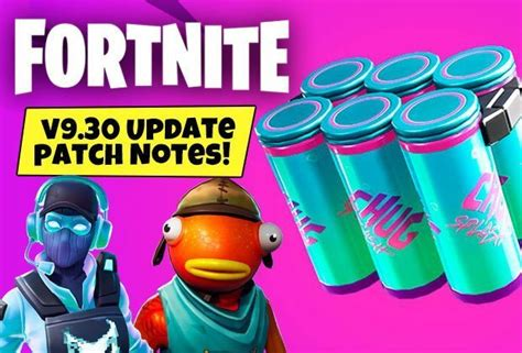 fortnite update  patch notes chug splash downtime