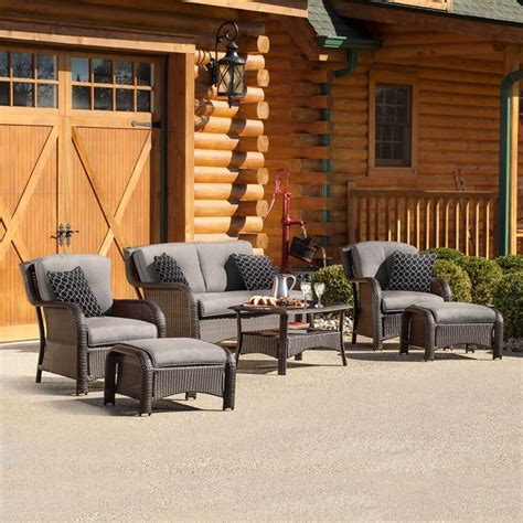 Shop Outdoor Furniture by Shop Hanover Outdoor Furniture Strathmere 6 Wicker
