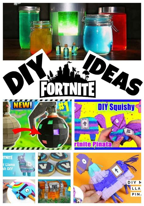 diy fortnite crafts party ideas tween party games