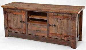 Reclaimed Wood Entertainment Center, Rustic TV Stand