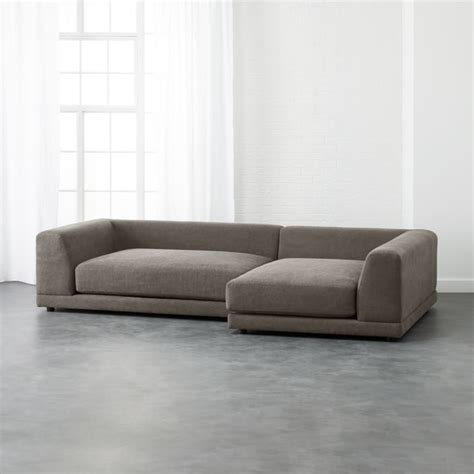 Cb2 Loveseat by Uno 2 Sectional Sofa Pewter Cb2