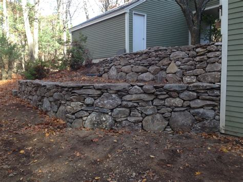 tiered retaining wall lincoln ma concord stoneworks