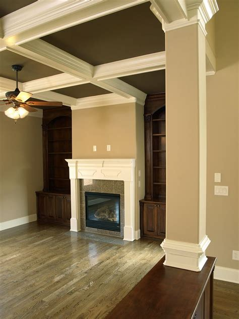 taupe walls with white trim love it matches olympic