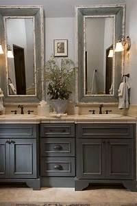 Meuble Style Campagne Chic : salle de bain campagne revisit e o le moderne et l ancien se marient la perfection ~ Teatrodelosmanantiales.com Idées de Décoration