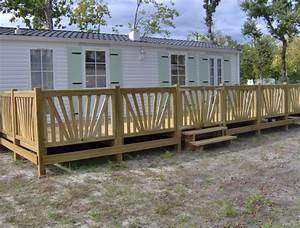 Balustrade En Bois : portillon bois pour terrasse mobil home ~ Melissatoandfro.com Idées de Décoration