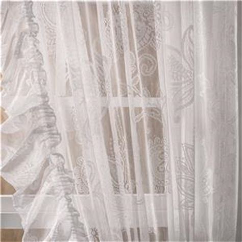 priscilla country lace ruffle curtains tie backs attached