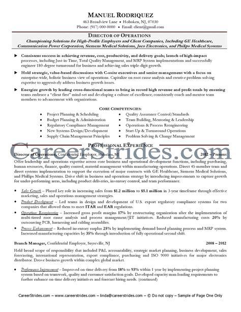 Senior Resume by Senior Management Resume Sle Exle