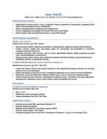 Resume Template Printable Resume Cv Templates Format Sle