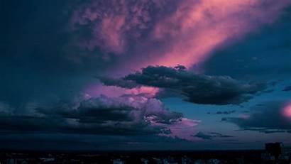 Clouds Sky Dusk Dark Background 1080p Ultrawide