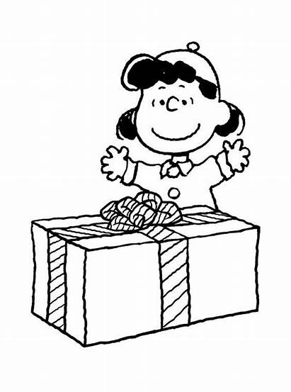 Charlie Coloring Brown Christmas Pages Printable Peanuts
