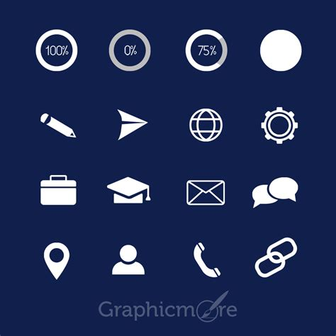 icons pack design for cv free download by graphicmore