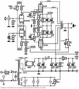 push pull pp el84 tube amplifier schematic ecc83 input With tube amp circuit