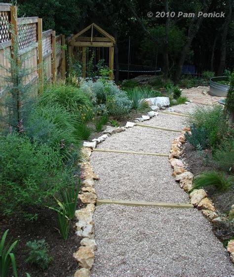 gravel sidewalk ideas easy gravel path on a slope landscaping pinterest adobe stone walkways and gravel walkway