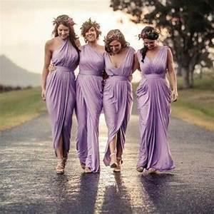 4 styles light purple sexy pleats chiffon summer ...