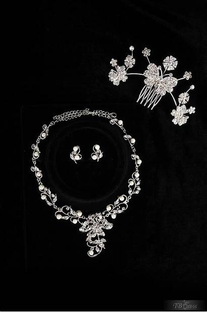 Jewelry Bridal Shaped Flower Necklace Tiara Including
