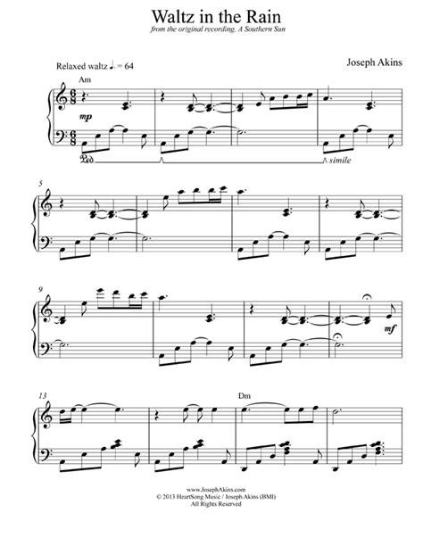 chord piano kiss the rain waltz in the rain