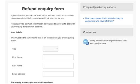allianz refund form how to cancel npower uk contact numbers
