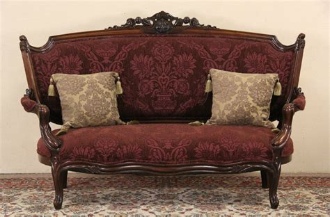 Settees Ebay by Sold Renaissance 1870 Antique Carved Walnut