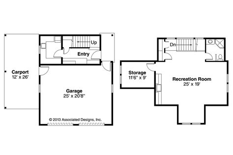 cottage house plans garage w rec room 20 111