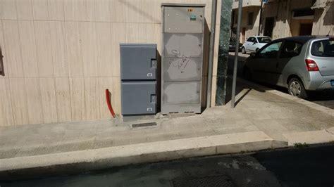 cabine telecom fibra enel telecom italia foto test pilota in puglia