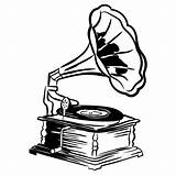 Record Player Drawing Clipartmag sketch template