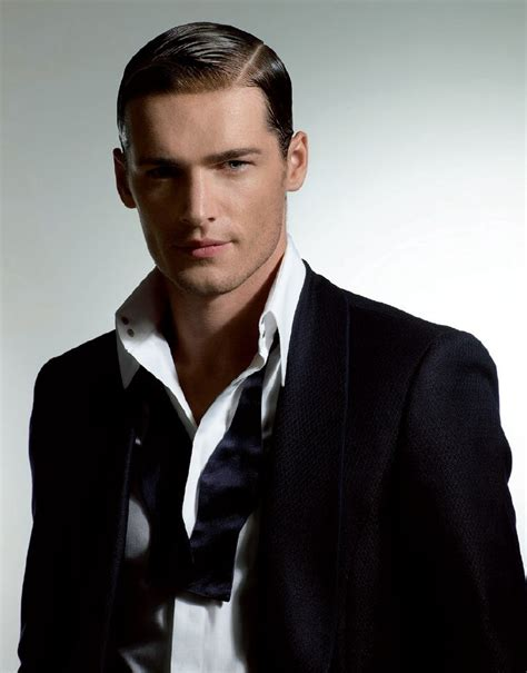 sleek and meticulously styled hair for men