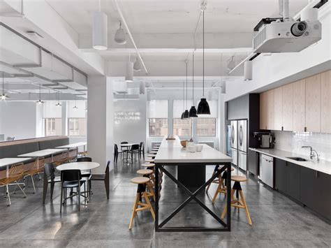 Office Kitchen by Office Tour Fullscreen Offices New York City