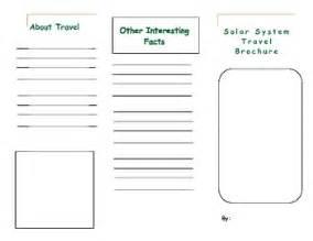 blank leaflet template inner solape solar system travel brochure by emma caudill teachers