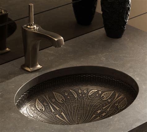 bronze undermount kitchen sink cast bronze sink new undermount lavatory sinks by kohler 4931