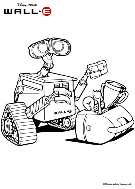 Coloring Wall by Wall E Coloring Pages Hellokids