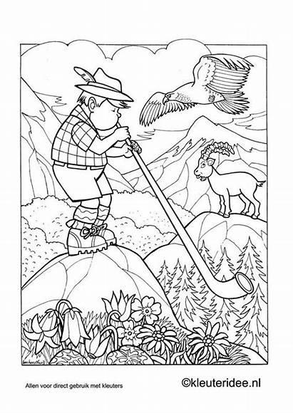 Coloring Pages Austria Kleurplaat Printable Swiss Oostenrijk