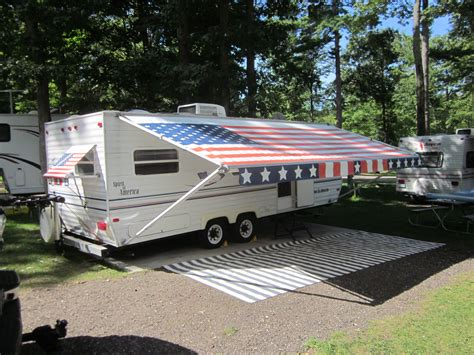 American Flag Rv Awning By Fun In The Shade