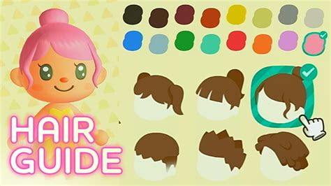 unlock  hairstyles colors animal crossing