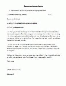termination for cause sample letter