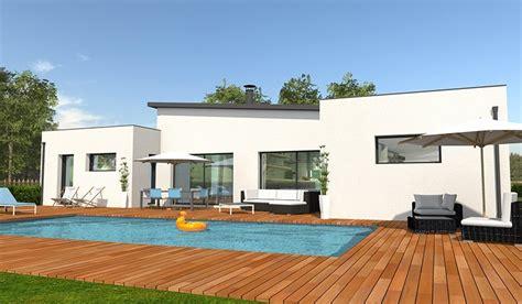 maison moderne plain pied 4 chambres maison contemporaine de plain pied 132 m 4 chambres