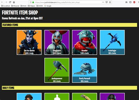 custom fortnite item shop  php html css justin stolpe