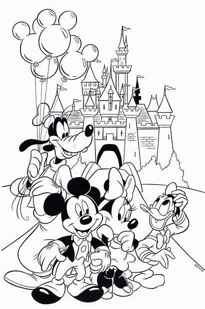 Coloring Disney Mouse Mickey Sheets Cartoon Printable