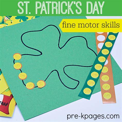 st s day motor activities 718 | St Patricks Day Fine Motor Activities for Preschoolers
