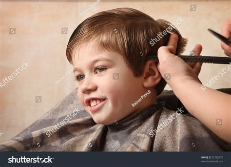Cute Young Boy Getting Haircut Stock Photo 72755170 Trendy Haircuts For Summer 2018 A Frame Haircut Back View Military Regulation Army Black Short Styles Bob Woman Cute 11 Year Olds With Long Hair Classic Mens 2012 Best Baseball