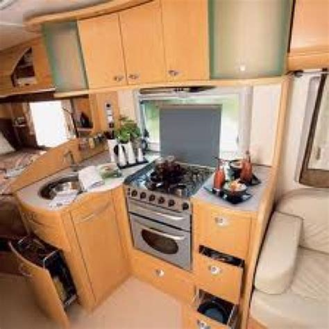 cer trailer kitchen ideas interior of a european rv this stove is but the