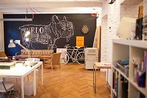 Old flat converted into highly creative office space in for Decoration interieur style atelier