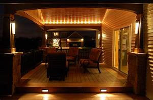 What is the voltage of the rope lights on the porch i for Interior rope lighting ideas