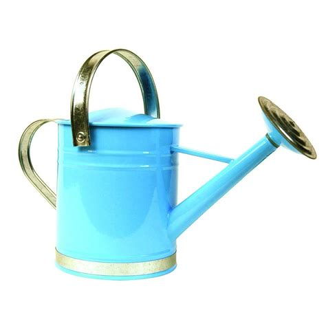 Diy Kitchen Organization Ideas - arcadia garden products basic 0 5 gal blue metal watering can wc04 the home depot