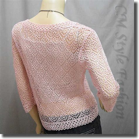 light pink sweater chic eyelet crochet cardigan sweater top light pink