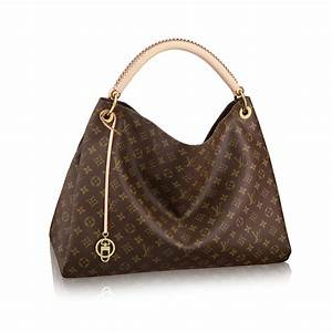 Monogram Artsy MM Women's Luxury Canvas Handbag LOUIS