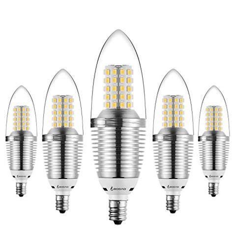 bogao 5 pack led candelabra bulb 12w led candle bulbs