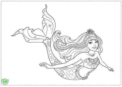 Printable Coloring Pages Barbie Mermaid Princess
